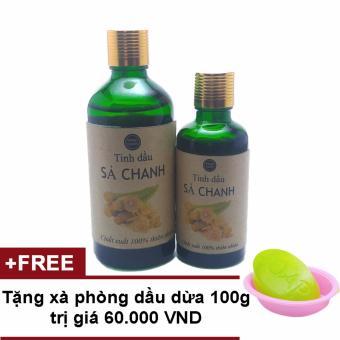Tinh dầu cây sả chanh 50ml*100ml Ngọc Tuyết tặng 1 cục xà phòng tắm