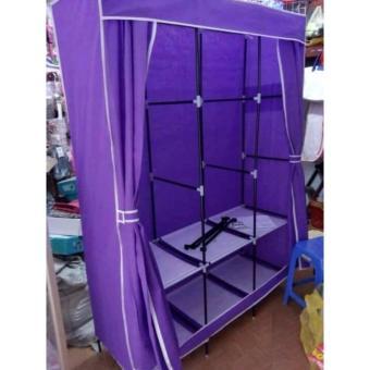 Tủ Vải 3 Buồng 8 Ngăn Khung Inox Siêu Chắc 1m3x1m7x45cm