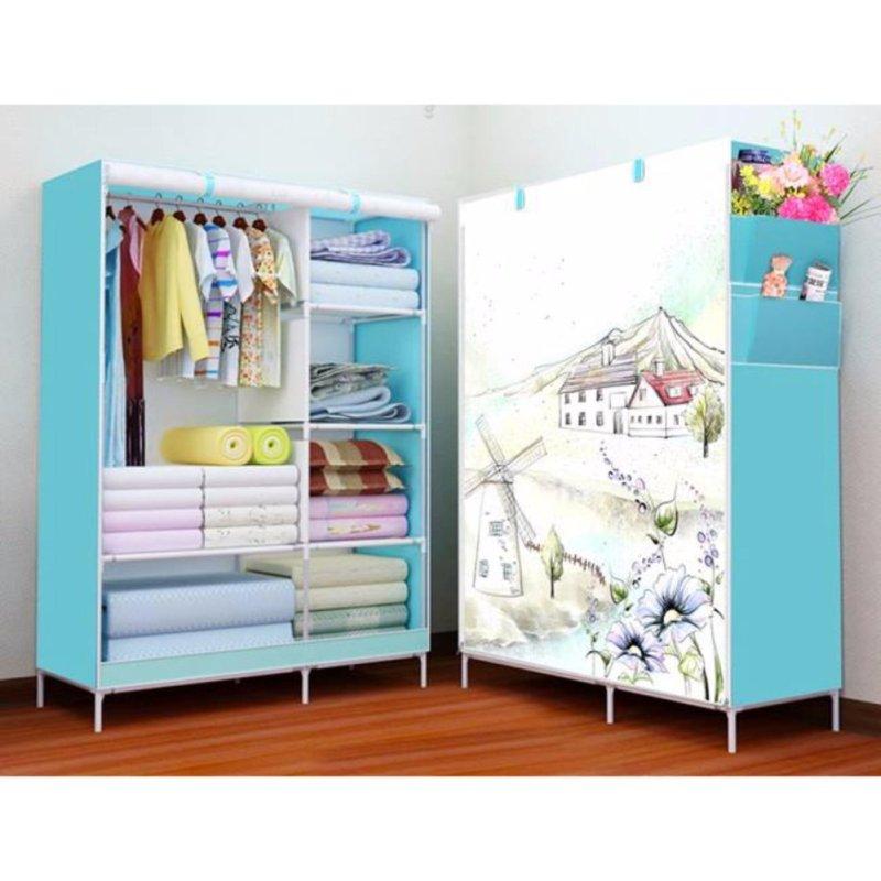 Nơi bán Tủ vải quần áo 3d Trang Anh (xanh dương)