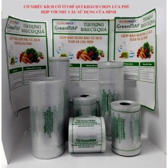 Túi bảo quản rau, củ, quả tươi lâu hon ( (kích thước 27x47 cm / túi, cuộn 0.5 kg)