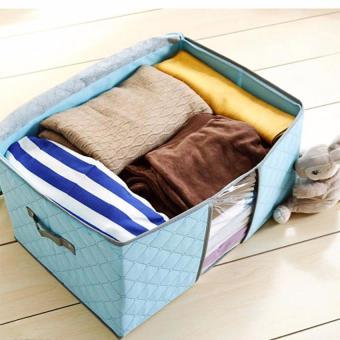 Túi vải đa năng đựng chăn mền và quần áo (Xanh biển)