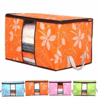 Túi vải hoa văn đa năng size lớn ( cam )