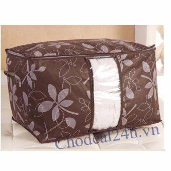 Túi vải hoa văn đa năng size lớn ( nâu )