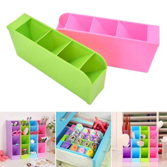 Underwear Storage Partition Plate Spacer Spacer Organize Storage Box Green - intl