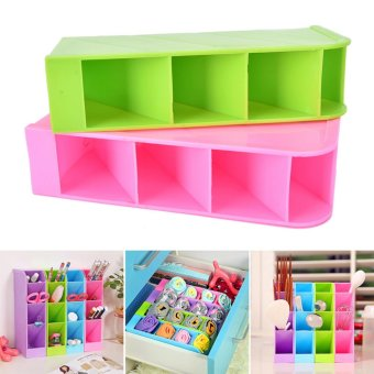 Underwear Storage Partition Plate Spacer Spacer Organize Storage Box Purple - intl