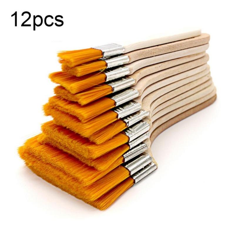 Mua USTORE 12pcs/set Wooden Oil Painting Brush Oil Paint Brush Nylon Hair Art Supply Wood - intl