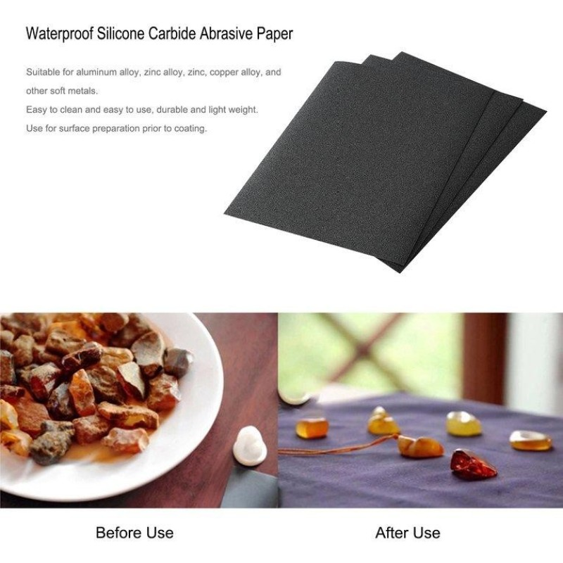 USTORE 50 Sheets Waterproof Silicone Carbide Abrasive Paper with Electro Coated CC45P - intl