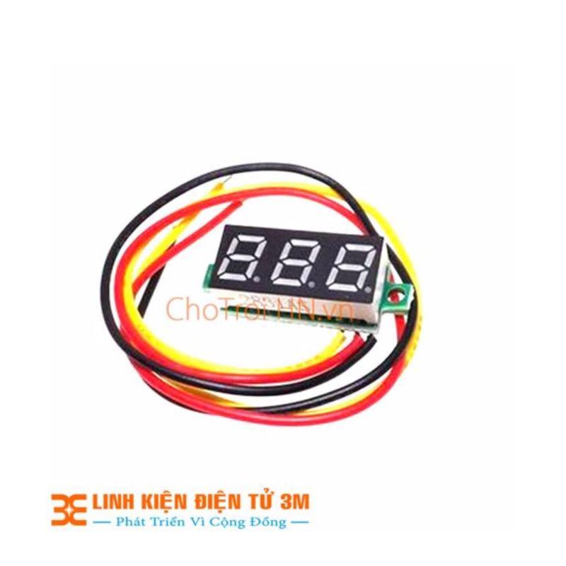 Bảng giá Mua Vôn Kế Điện Tử 0.28 Inch 0-100VDC ( Đỏ)