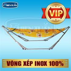 Võng xếp cao cấp TAKO INOX 100% (Có lưới võng)