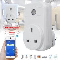 Wireless WIFI Phone Remote Control Smart Timer Socket Switch UK Plug - intl