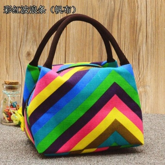 Woman Lady Oxford Waterproof Lunch Tote Bag Travel Cooler Insulated Handbag Zipper Storage Container - intl