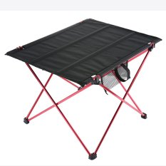 Womdee Folding Camping Table Ultralight Portable Hiking Picnic Mountaineering Table with Carrying Bag,Red - intl