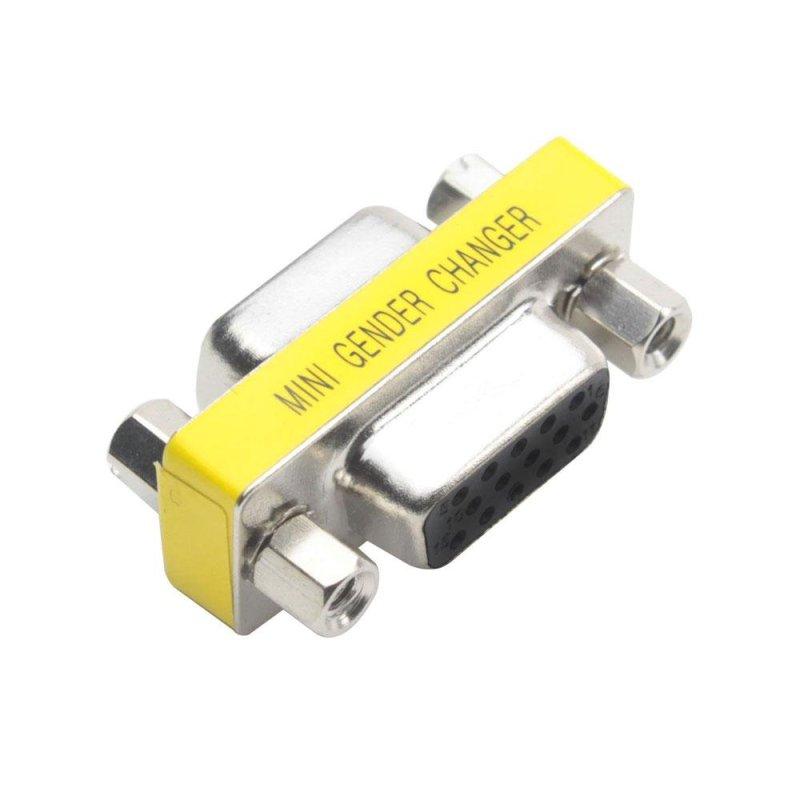 Bảng giá Mua xinfu HD15 (VGA) Female to HD15 (VGA) Female Mini Gender Changer /Adapter - intl