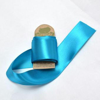 3m ruy băng lụa 4cm xanh dương RB85