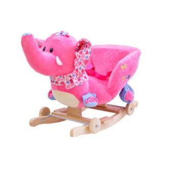 Bập bênh kiêm xe kéo thú bông hình voi