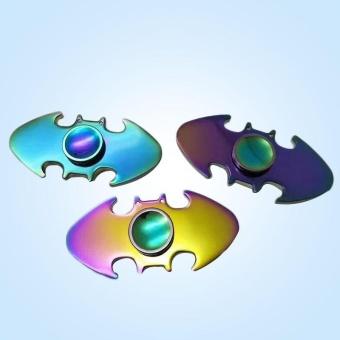 Batman Metal Tri-Fidget Hand Spinner Focus Spin ADHD Gyro GiftRainbow - intl