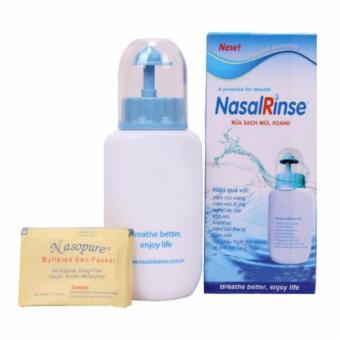 Bình rửa mũi NasalRinse chống viêm +10 gói muối sinh lý