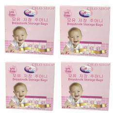 Cửa hàng bán Bộ 04 hộp 50 túi trữ sữa GB Baby