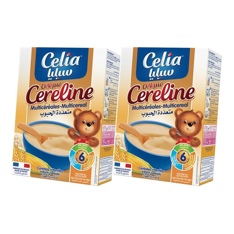 Bộ 2 bột ăn dặm Celia careline Multicereal tổng hợp