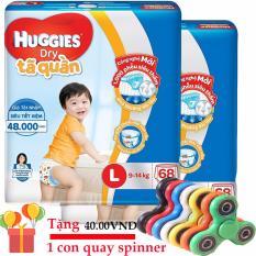 Bộ 2 gói Tã quần Huggies Dry Pants L68 miếng (Cho trẻ từ 9-14kg)