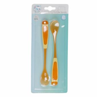Bộ 2 muỗng nhựa mềm cho bé ăn AMI - Made in ThaiLand AM55202