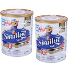 Bộ 2 sữa bột ABBOTT Similac Gain Plus IQ 3 900g