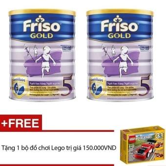 Bộ 2 sữa bột Friso Gold 5 1500g + Tặng đồ chơi Lego