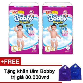 Cần tìm Bộ 2 tã quần Bobby L54 + Tặng 1 khăn tắm Bobby