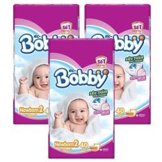 Bộ 3 gói Tã Giấy Bobby Fresh Newborn 2-40.
