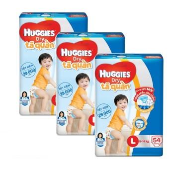 Bộ 3 tã quần Huggies Big Jumbo L54