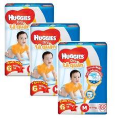 Bộ 3 tã quần Huggies Dry Pants M60 (6 – 11kg) + Tặng 6 miếng /gói