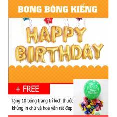 Khuyến Mãi Bộ bong bóng sinh nhật HAPPY BIRTHDAY (Vàng) có keo dán- Diệp Linh BBSN5  DiepLinh
