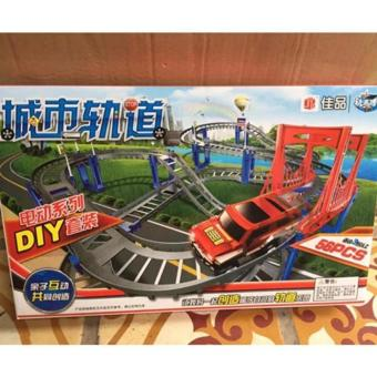 Bộ đồ chơi đường ray tàu lượn 56 chi tiết cho bé yêu