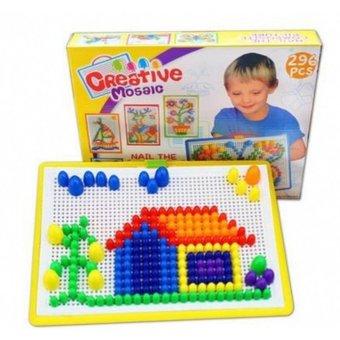 Bộ đồ chơi ghép hạt gắn, ghép hình, vừa học vừa chơi thông minh chobé