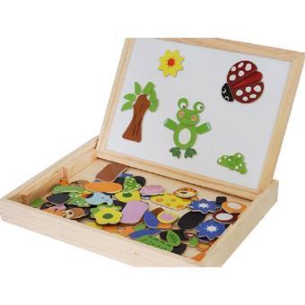 Bộ đồ chơi ghép hình nam châm kèm bảng từ cho bé