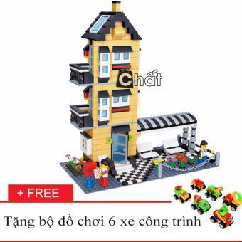 Bộ Đồ Chơi Lắp Ráp Nhà Cao Tầng 32053 + Tặng Bộ Đồ Chơi 6 Xe CôngTrình