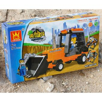 Bộ đồ chơi lego xếp hình Wange máy xúc - Xe công trường - 2
