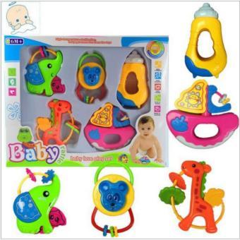 Bộ đồ chơi lúc lắc, xúc xắc 5 món cao cấp cho bé