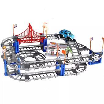 Bộ đồ chơi thông minh lắp ráp đường ray cho ô tô chạy, phát triểntư duy trẻ