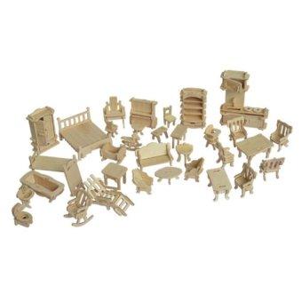 Bộ đồ chơi xếp hình 3D bằng gỗ giúp bé phát triển tư duy sáng tạoLOPA