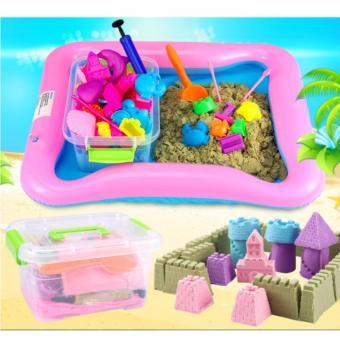 Bộ hộp đồ chơi cát động lực loại lớn có phao nhỏ dành cho bé