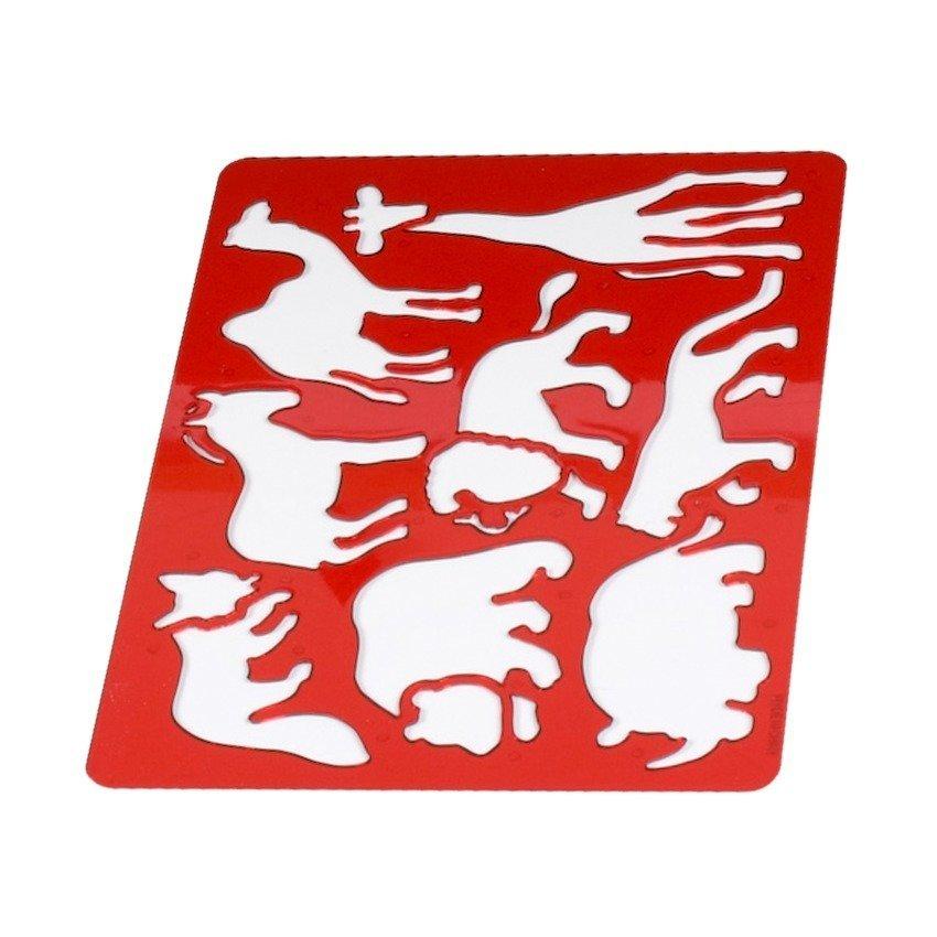Hình ảnh Bộ Khung Nhựa Vẽ Hình UBL (Đỏ)