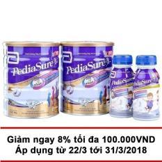 Giá Niêm Yết Bộ Pediasure tiết kiệm gồm 2 lon Pediasure B/A 850G + 2 chai Pediasure BA 3+ 237ml