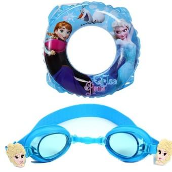 Bộ phao tròn 50cm và kính bơi hình Frozen Mesuca  D702037-Q