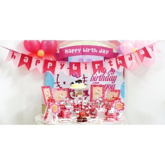 Bộ trang trí tiệc sinh nhật chủ đề Hello Kitty