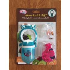 Chỗ bán Bộ túi nhai dặm cho bé GB Baby hình cú mèo (Xanh Dương hoặc Xanh lá)
