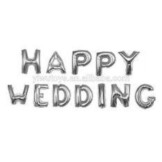 Ở đâu bán BONG BÓNG CHỮ HAPPY WEDING BẠC