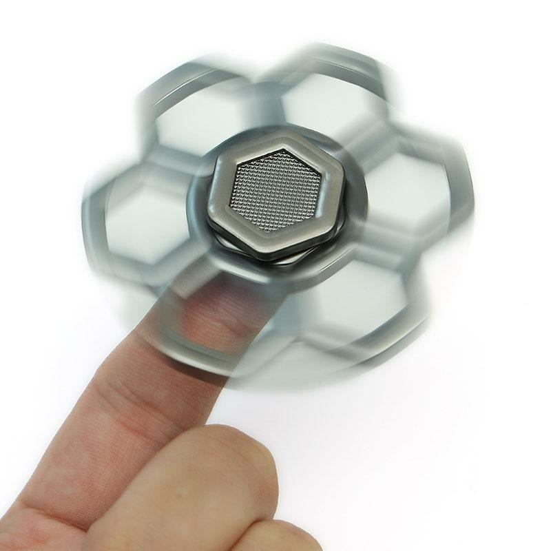 Hình ảnh Colorful Finger Toys Decompression Creative EDC Toys Finger Spiral silver - intl