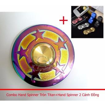 Combo Hand Spinner Hợp kim mạ titan 120-180 giây + Spinner 2 cánhĐồng Legaxi