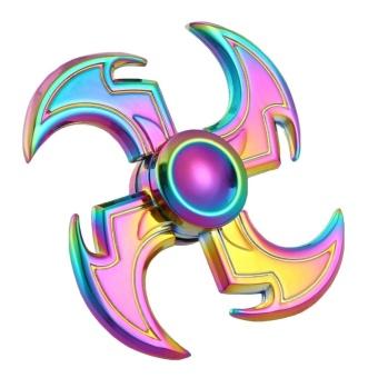 Dayspirit Rainbow Sickle Style Fidget Releasing Hand Spinner - intl
